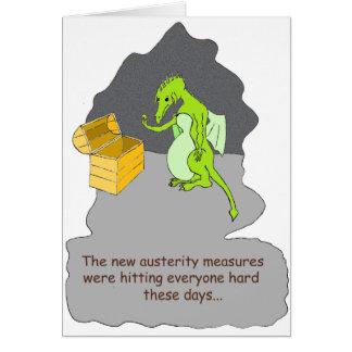 Una austeridad de los dragones tarjeta de felicitación