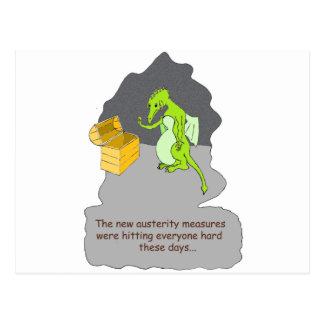 Una austeridad de los dragones tarjeta postal