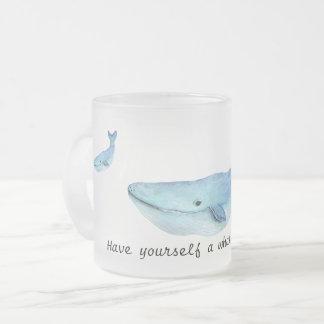 Una ballena de una taza del tiempo