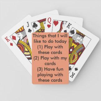 Una baraja linda perfecta por un día dentro baraja de cartas