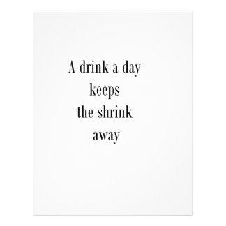 Una bebida al día mantiene el encogimiento ausente tarjetas publicitarias