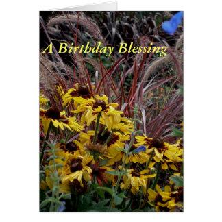 Una bendición del cumpleaños tarjeta de felicitación