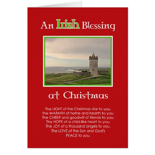 Una bendición irlandesa en la tarjeta de la foto