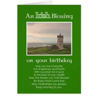Una bendición irlandesa - tarjeta de encargo de la