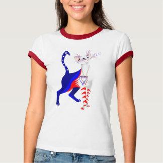 Una camisa americana del gato