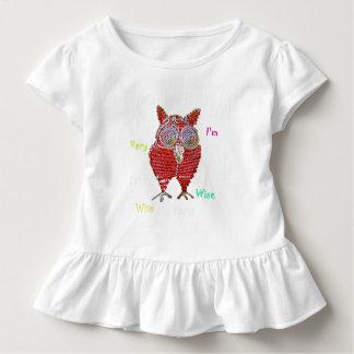 Una camisa sabia del bebé del búho
