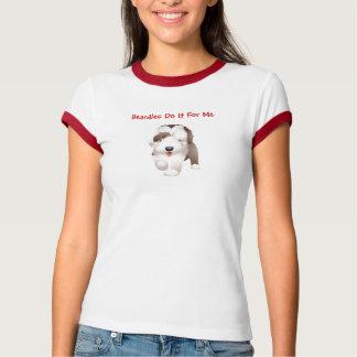 Una camiseta barbuda linda del collie