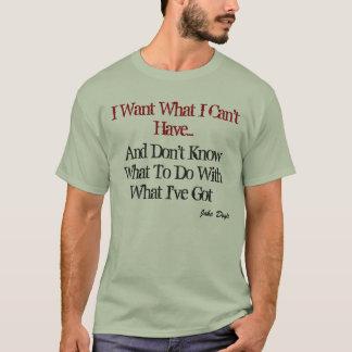 Una camiseta común de la frustración.