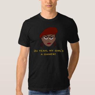 Una camiseta del videojugador de mi chica