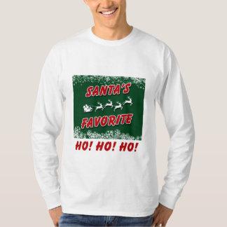 Una camiseta larga de la manga del navidad con