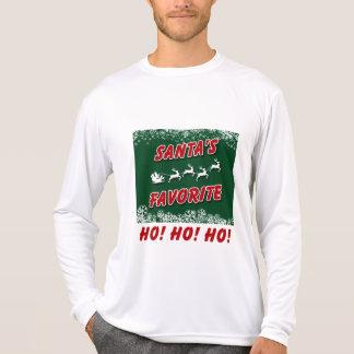 Una camiseta larga de la manga del navidad, simple