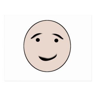 Una cara feliz postal