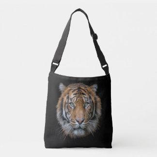 Una cara salvaje del tigre de Bengala Bolsa Cruzada