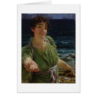 Una Carita, 1883 (aceite en el panel) Tarjeta De Felicitación