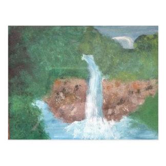 Una cascada postal