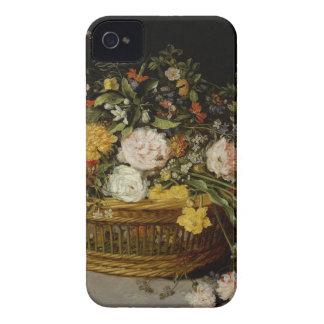 Una cesta de flores - Jan Brueghel el más joven Carcasa Para iPhone 4