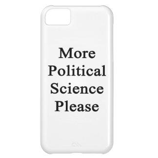Una ciencia más política por favor