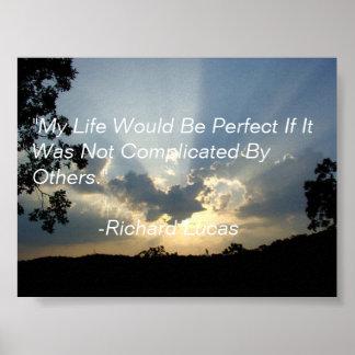 Una cita de un hombre sabio. póster