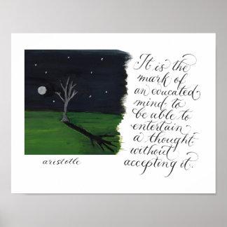 Una cita inspirada de la tipografía de la mente póster