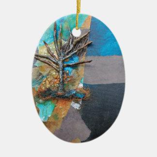 Una colina del árbol adorno de cerámica