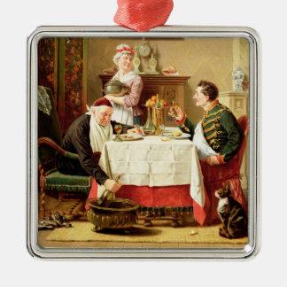 Una comida satisfactoria, 1883 (aceite en lona) adornos