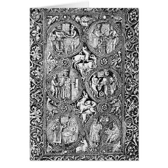 Una copia del salterio de la reina Melisende de la Tarjeta De Felicitación