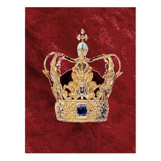 Una corona real postal