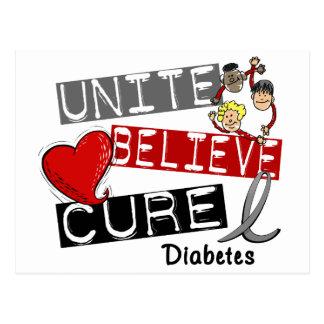 UNA CREEN la diabetes de la CURACIÓN Postal