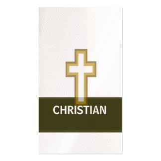 Una cruz de oro cristiana de la fe tarjetas de visita