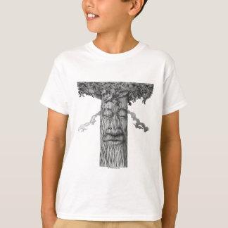 Una cubierta poderosa B&W del árbol Camiseta