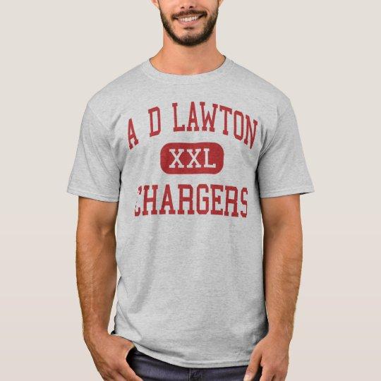 Una D Lawton - cargadores - centro - empalme de Camiseta