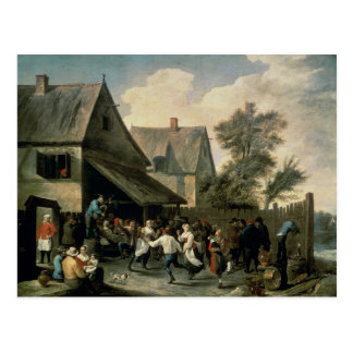 Una danza popular postal