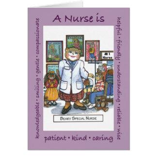 Una enfermera de la escuela es… tarjeta