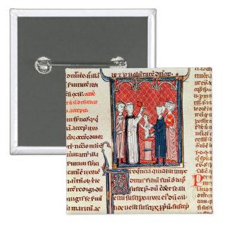 Una escena del bautismo, de 'Decrets de Gratien' Pin