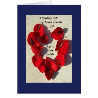 Una esposa militar… tarjeta de felicitación