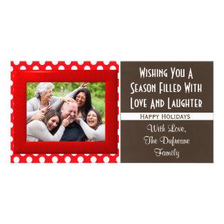 Una estación del navidad del amor y de la risa tarjeta