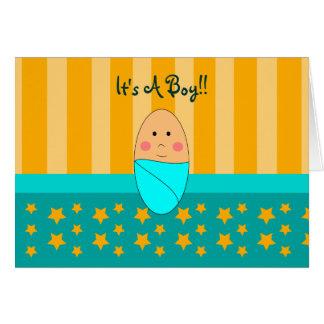 Una estrella es invitación recién nacida nacida de tarjetón