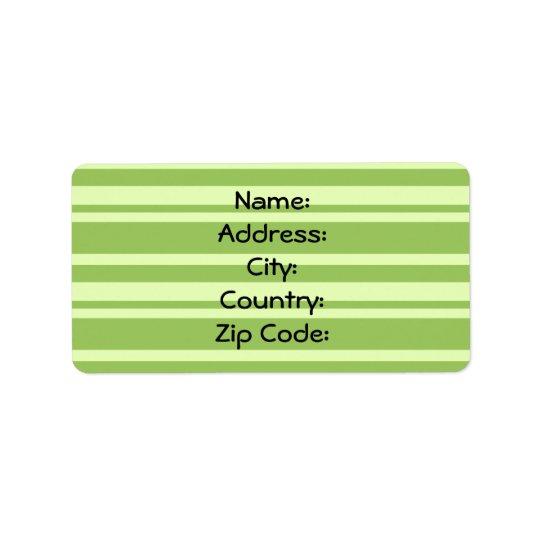 Una etiqueta de dirección