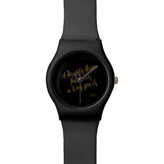 Una falsa hoja de oro de la llama de la cita relojes de pulsera