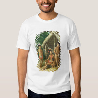 Una familia del Carib de las islas de sotavento Camisetas