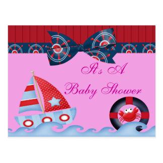 Una fiesta de bienvenida al bebé de la vida marina postal