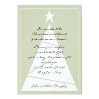 ¡Una fiesta de Navidad! Invitación 12,7 X 17,8 Cm