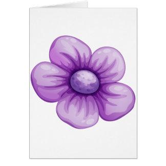 Una flor violeta felicitaciones