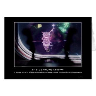 Una foto de despedida del espacio internacional St Tarjeta De Felicitación