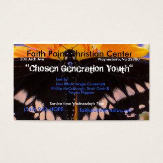 Una generación elegida tarjeta de negocios