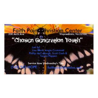 Una generación elegida plantillas de tarjetas de visita