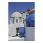 Una iglesia en Santorini, Grecia Impresiones