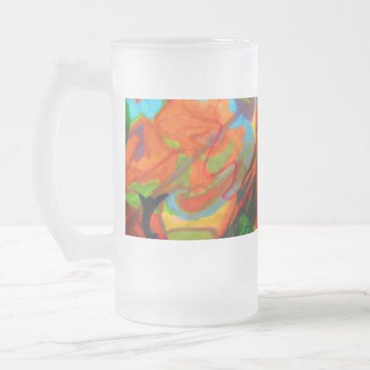 Una imagen abstracta jarra de cerveza esmerilada