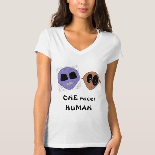 UNA inspiración linda HUMANA del diseño de los Camiseta