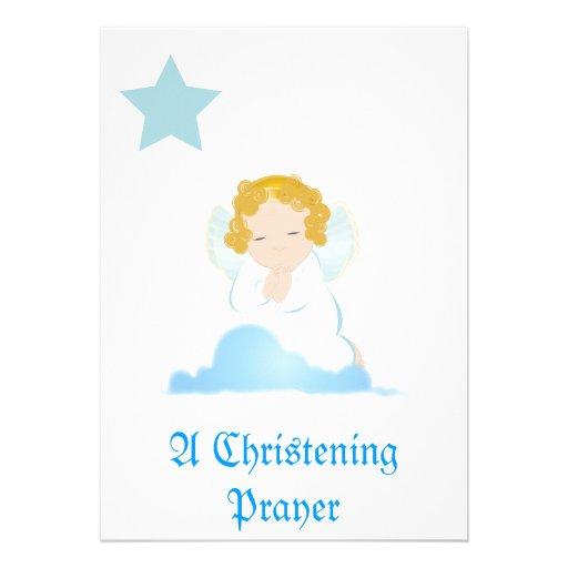 Una invitación del rezo del bautizo - personalizar